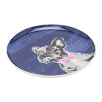 Joules Pawcasso Tea Plate Bowtie French Bulldog