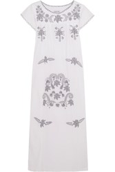 Sensi Studio Embroidered Crinkled Cotton Coverup White
