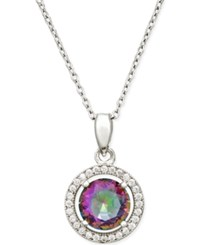 Giani Bernini Mystic Topaz 5 16 Ct. T.W. And Cubic Zirconia Pendant Necklace In Sterling Silver Only At Macy's