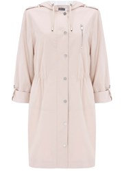 Mint Velvet Blossom Stripe Lined Parka Light Pink