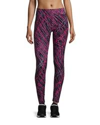 Marc Ny Performance Abstract Print Activewear Leggings Brt Rose C