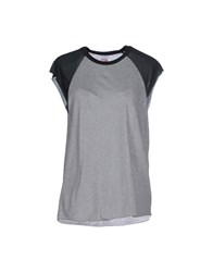 Obey Topwear T Shirts Women Light Grey