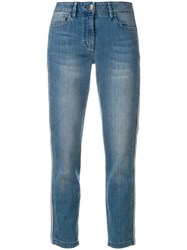 Luisa Cerano Low Rise Skinny Jeans Blue