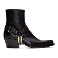 Calvin Klein 205W39nyc Black Tex Harness Boots