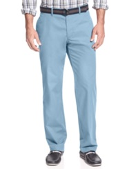 Haggar Pants Straight Fit Heritage Poplin Belted Pants Light Blue