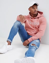 Pull And Bear Pullandbear Hoodie In Pink With Logo