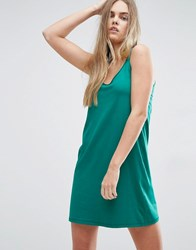 Asos Ultimate Mini Tank Dress Green