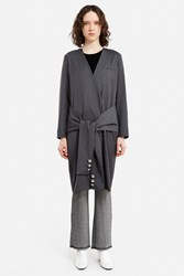Ann Sofie Back Sleeve Coat Dress Charcoal Marl
