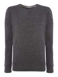 Scotch And Soda Men's Home Alone Crew Neck Sweat Charcoal
