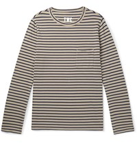 The Workers Club Striped Cotton Jersey T Shirt Neutrals