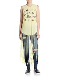Wildfox Couture Gypsy Make Believe Fringe Tank Pina Colada