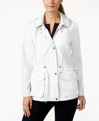Charter Club Long Sleeve Hooded Anorak Jacket Only At Macy's Bright White