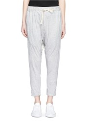 Bassike Relaxed Fit Drop Crotch Drawstring Jersey Pants Grey