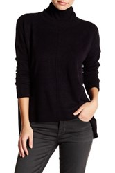 Sweet Romeo Seamed Front Mock Turtleneck Sweater Petite Black
