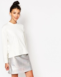 The Whitepepper Zip Detail Top Ivory