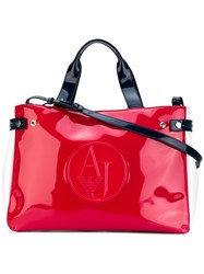 Armani Jeans High Shine Tote Bag Red