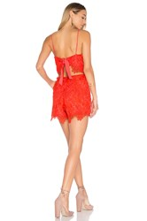 Lovers Friends Songbird Romper Red
