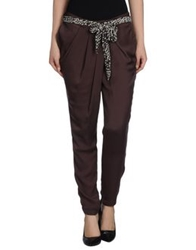Hanita Casual Pants Dark Brown