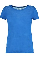 Majestic Linen T Shirt Royal Blue