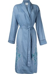 Forte Forte Embroidered Robe Women Ramie 2 Blue