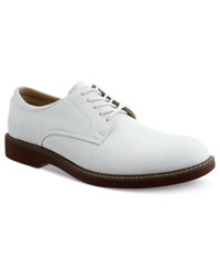Bass Pasadena Plain Toe Lace Up Shoes Men's Shoes White Nubuck