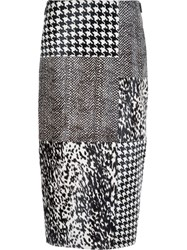 Jason Wu Panelled Midi Skirt Black