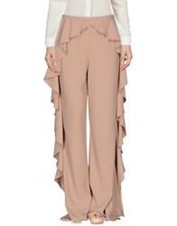 Ki6 Who Are You Trousers Casual Trousers Skin Colour