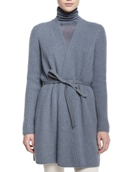 Loro Piana Draped Front Belted Cardigan