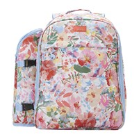 Joules Four Person Picnic Rucksack White Floral