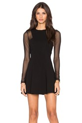 Bcbgeneration Long Sleeve Skater Dress Black