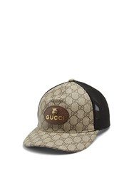 Gucci Logo Print Gg Supreme Cap Brown Multi