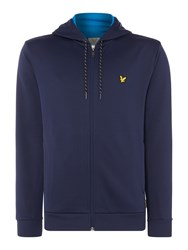 Lyle And Scott Men's Hill Fleece Track Hoodie Navy