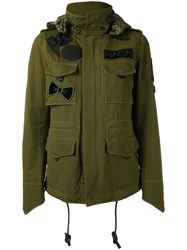 Coach M65 Jacket Women Cotton Leather Polyester Viscose 4 Green