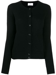 Allude Colour Block Cardigan Black