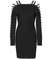 David Koma Stretch Knit Dress Black