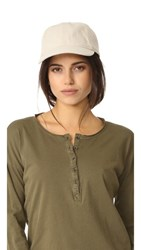 Madewell Linen Baseball Hat With Leather Trim Canvas