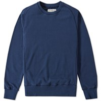 Universal Works Felpa Diagonal Raglan Sweat Blue