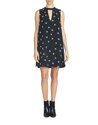 1.State Keyhole Shift Dress Black