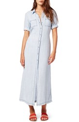 Women's Michael Stars Button Front Chambray Maxi Dress