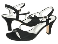 David Tate Beverly Black Satin Women's Dress Sandals