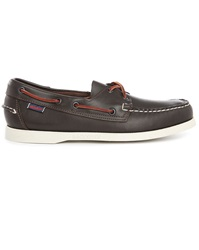 Sebago Docksides Burgundy Leather Boat Shoes