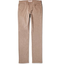 Loro Piana Cotton And Cashmere Blend Corduroy Trousers Brown