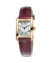 Frederique Constant Classics Carree Watch 23Mm White Red