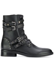 Trussardi Jeans Side Zip Boots Black