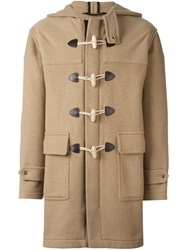 Palm Angels Hooded Duffle Coat Nude Neutrals