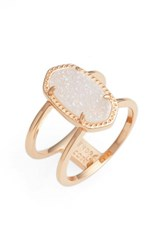 Kendra Scott Women's Elyse Ring Iridescent Drusy Rose Gold
