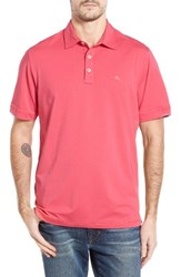 Tommy Bahama Men's Big And Tall Tropicool Spectator Polo Raspberry Sorbet