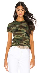 Nsf Alessi Baby Tee In Green. Deep Olive Camo