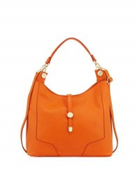 Neiman Marcus Framed Leather Hobo Bag Orange