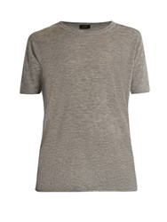 Joseph Cashair Crew Neck Cashmere T Shirt Light Grey